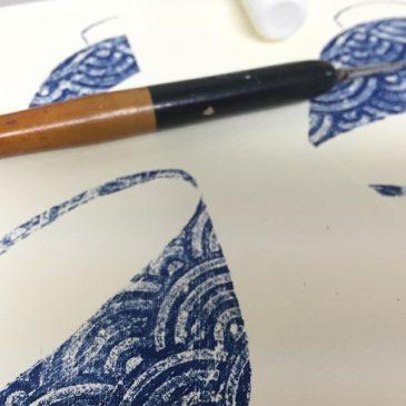 wan #mimeograph #printmaking #printmakingart