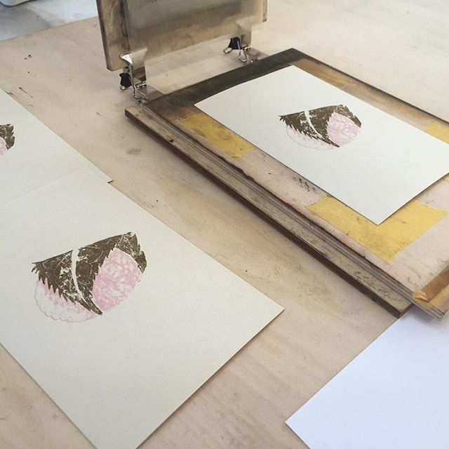Wagashi #printmaking #mimeograph #printmakingart