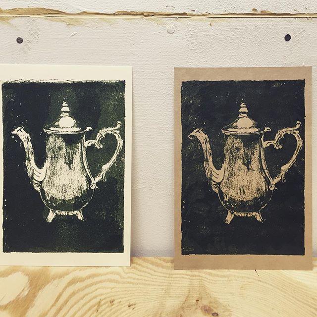 pitcher #illustration #mimeograph #printmakingart #hanga #printmaking