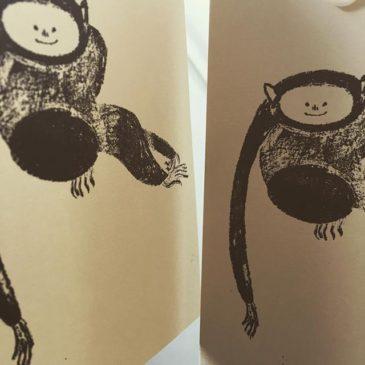 Monkey Jakuchu #mimeograph #printmaking #printmakingart