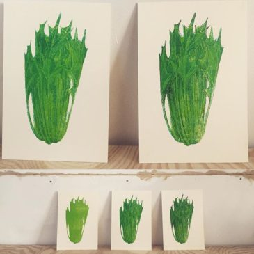 mizuna(printmaking process2)#printmaking #mimeograph #printmakingart #hanga #72seasons #illustration