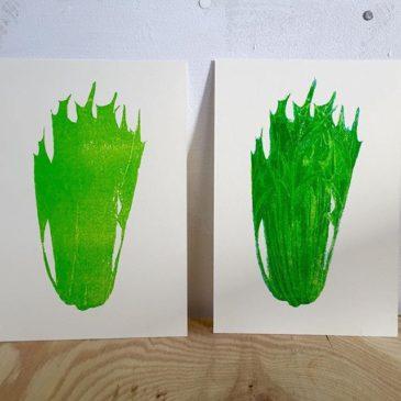 mizuna(printmaking process1)#hanga #printmakingart #mimeograph #printmaking