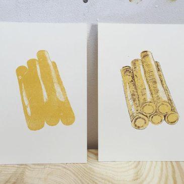 Burdock(printmakig process)#72seasons #illustration #printmakingart #hanga #mimeograph #printmaking