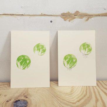 Brussels sprouts #printmaking #mimeograph #hanga #printmakingart #illustration #72seasons