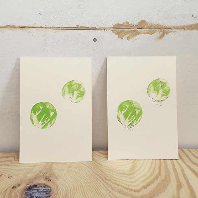 Brussels sprouts #printmaking #mimeograph #hanga #printmakingart #illustration #72seasons
