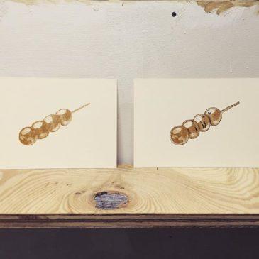 Wagashi #printmaking #mimeograph #hanga #printmakingart #illustration