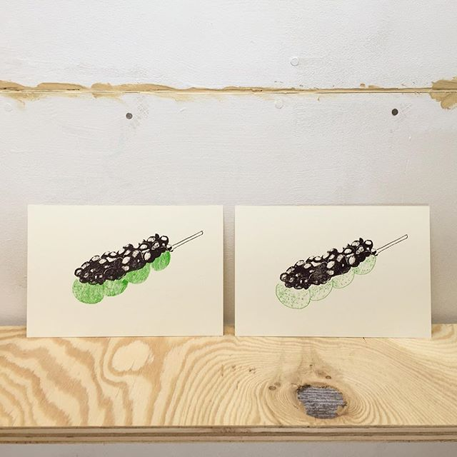 wagashi #illustration #printmakingart #hanga #mimeograph #printmaking