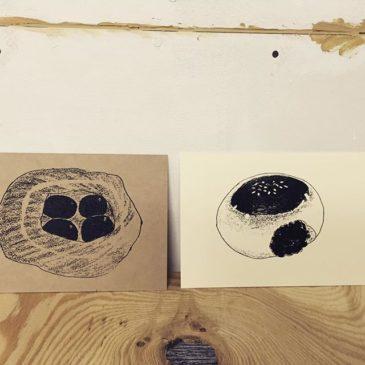 Bread #illustration #printmakingart #hanga #mimeograph #printmaking