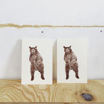 Bear #illustration #printmakingart #hanga #mimeograph #printmaking