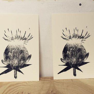 safflower #printmaking #mimeograph #hanga #printmakingart #illustration