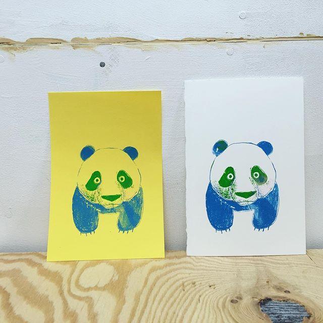 Panda #printmaking #hanga #printmakingart #mimeograph #illustration