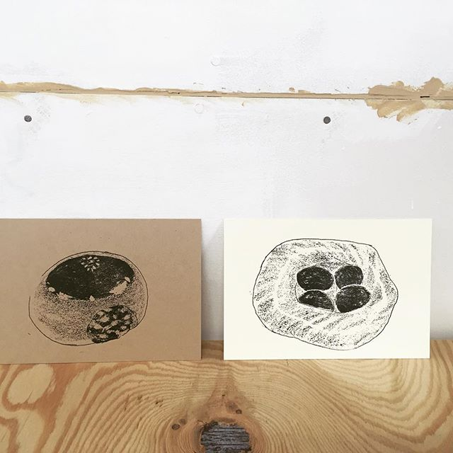 Today's Bread #printmaking #hanga #printmakingart #mimeograph #illustration