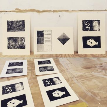 Test Prints #mimeograph #printmaking #hanga #printmakingart