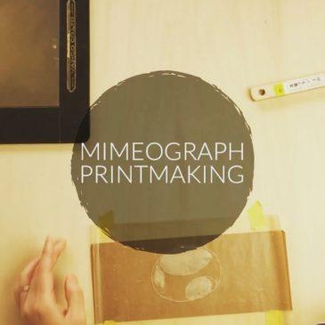 Video #printmaking #mimeograph #hanga #printmakingart