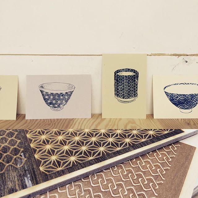 Mimeograph frottage PRNT #hanga #mimeograph #printmakingart #printmaking #illustration