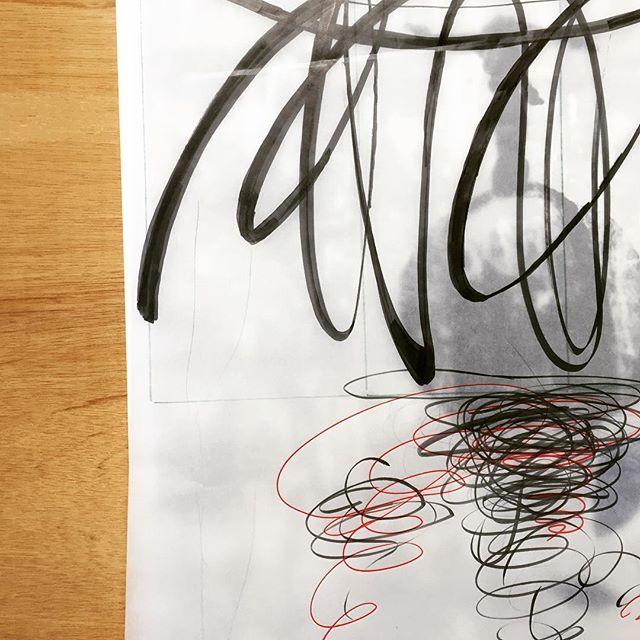 ようやく定まってきた感。#謄写版 #ガリ版 #ドローイング #版画 #mimeograph