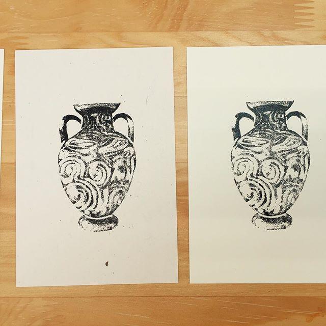 実験その3。#塗布還元法 #コピック #XB #面製版 #mimeograph #printmaking #謄写版 #ガリ版