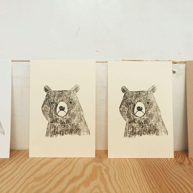 本日の刷り。#printmaking #mimeograph #ガリ版 #謄写版 #版画 #illustration