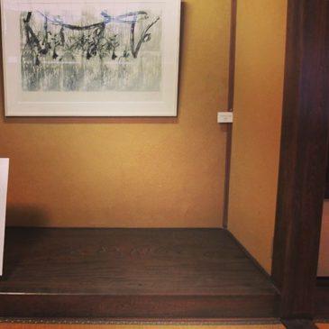 我ながら、和室床の間に飾るとカッコイイと、思いました。#instaart #instadaily #instaprints #謄写版 #printmaking #mimeograph