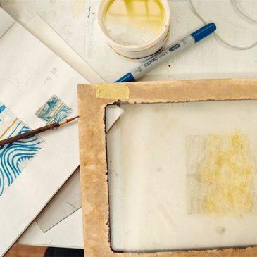 """making of  printmaking artwork """"SURFACE""""#mimeograph #printmaking #instaart #instaprintmaking #instadaily #artwork"""