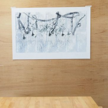 """Start to sale at the Saatchi art! ⠀⠀""""Composition of weed"""" 2016, Mimeograph print, Edition of 4, 64x97cm.⠀⠀ #tagboat #instaart #seligraphy #fineart #mimeograph #instaprintmaking #artsale #printart #printmaking #instaartsale #saatchiart"""