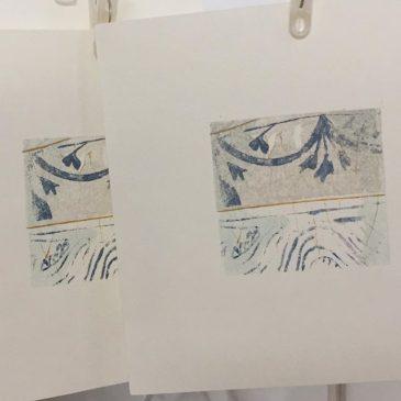 """making of printmaking artwork """"SURFACE"""""""