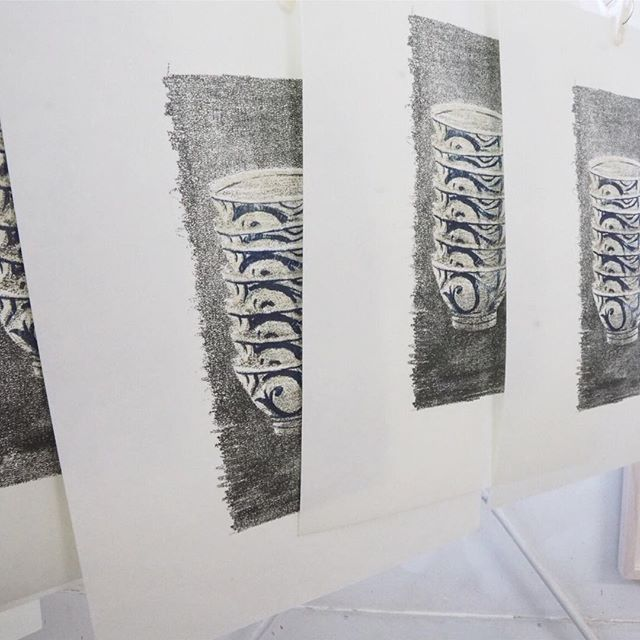 "making of printmaking artwork ""NOISE"""