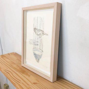 "My print art has been sold!・""Sparrow&Wan"" 2013, ・Mimeograph print, Edition of 14, 29.7x21cm. ・U can see this work byTAGBOAT gallery・or・sattchi art. ・———-ただ今の展示中作品ではありませんが、こちらの作品が売れましたので、嫁入り前の写真撮影です。・まだこちらの作品はエディションはありますので、タグボートもしくは、私までお問い合わせくださいーませ。"