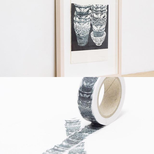 """My print art (& washi tape)has been sold! """"Stacking"""" 2015, Mimeograph print, ・---------- ・先日の個展で完売しましたこちらの作品のマスキングテープも限定数完売いたしました。こちらのマステ再製作は未定です。・ベーコン&エッグのマステは引き続き10-48オンラインショップで販売中です。こちらも残りわずかとなってます。1048.shopselect.net/items/9872934"""