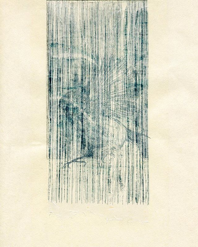 """""""The outside of window 6 """" 2010, Mimeograph print, Edition of 3, 26×11cm.You can Pay by Paypal (for international). #mimeograph #printmaking #miniprint #謄写版 #ガリ版 #fileprateproses"""