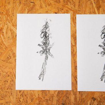 """Weed""#peopleofprint #artistsofinstagram #mimeograph #mimeograph #printmakimg #tomokokanzaki #fileprateprocess #weed #謄写版 #ガリ版"