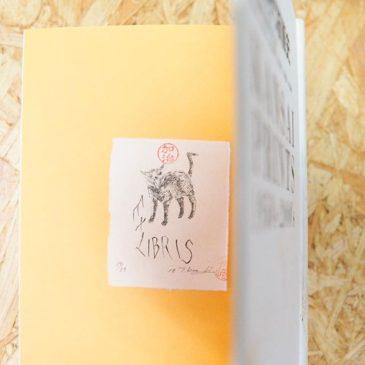 exlibris#artistsofinstagram #printmaking #ガリ版 #謄写版 #fileprateprocess #mimeograph #cat #版画 #蔵書票 #exlibris