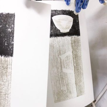 Yesterday's work.#mimeograph #版画 #printmaking