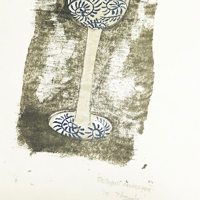 I will send this work to Garmany!#collectionart #mimeograph #artforsale #printmaking