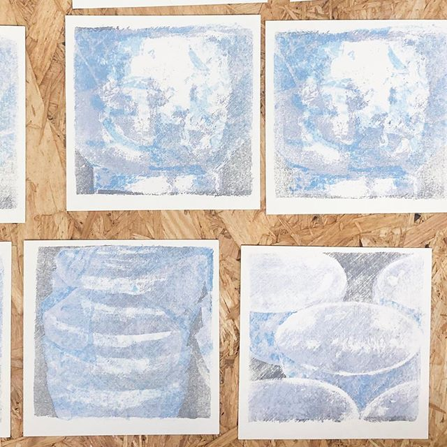190419#peopleofprint #mimeograph #printmaking #tomokokanzaki #artwork #miniprint