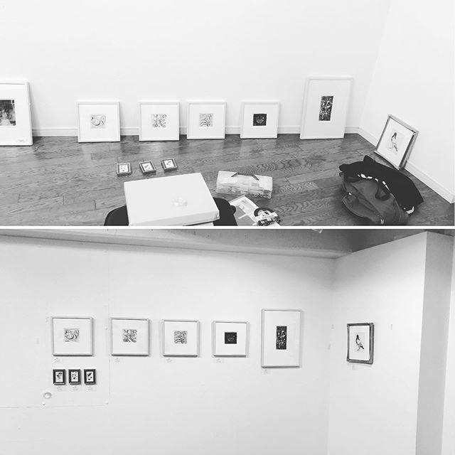 Today is install Day at @artcomplex_center_of_tokyo  #printmaking #printmakingexhibiton  #tokyo #mimeograph #tomokokanzaki